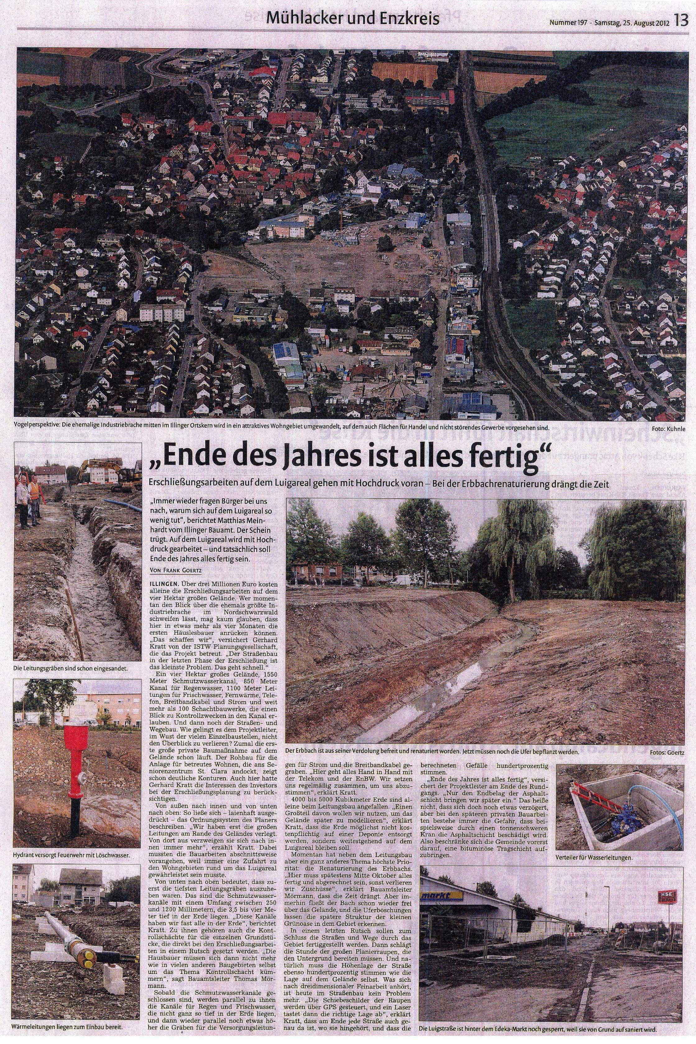 Mühlacker Zeitung vom 25.08.2012