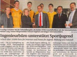 Ingenieurbüro unterstützt Sportjugend