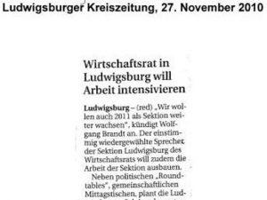 Wirtschaftsrat in Ludwigsburg will Arbeit intensivieren