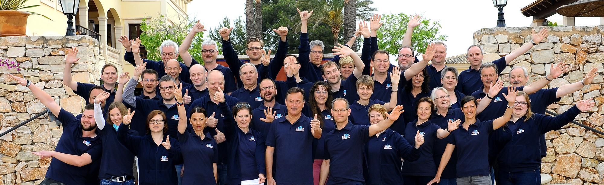 Mitarbeiter Mallorca -Gruppenfoto