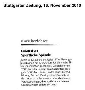 Stuttgarter Zeitung, 16.11.2010
