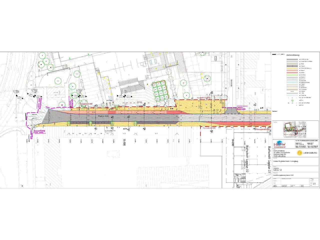 Ausbau Pflugfelder Straße – Ludwigsburg