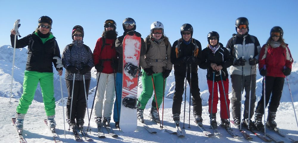 Mitarbeiter Skiausfahrt