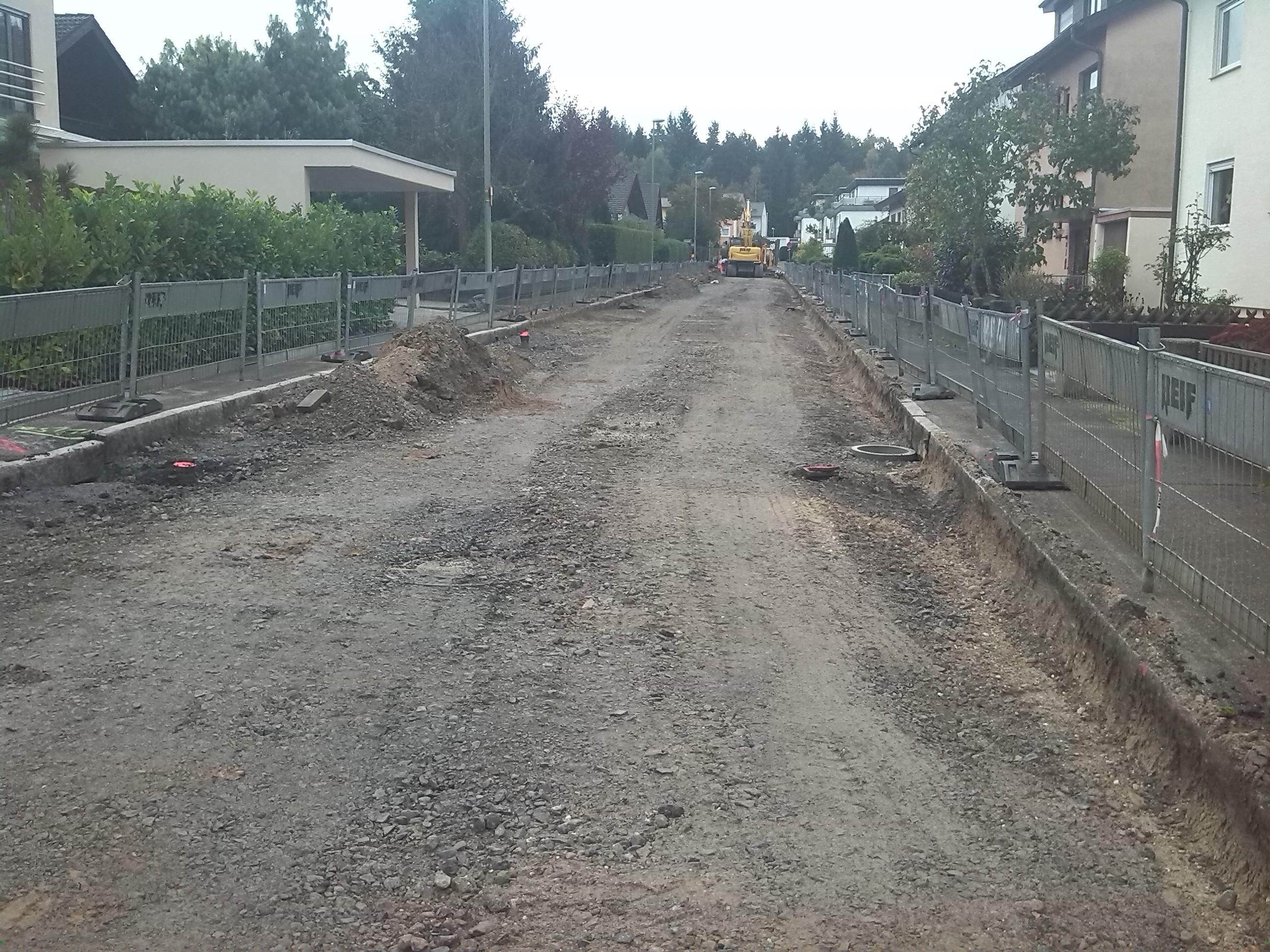 Fahrbahnsanierung + Kanalerneuerung Meisenstraße_Pforzheim_5